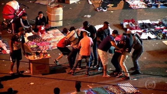 'Gangue da correntinha' ataca consumidores no Brás; veja vídeo