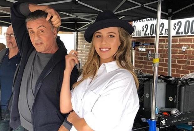 Sylvester Stallone e a filha Sophia (Foto: Reprodução/Instagram)