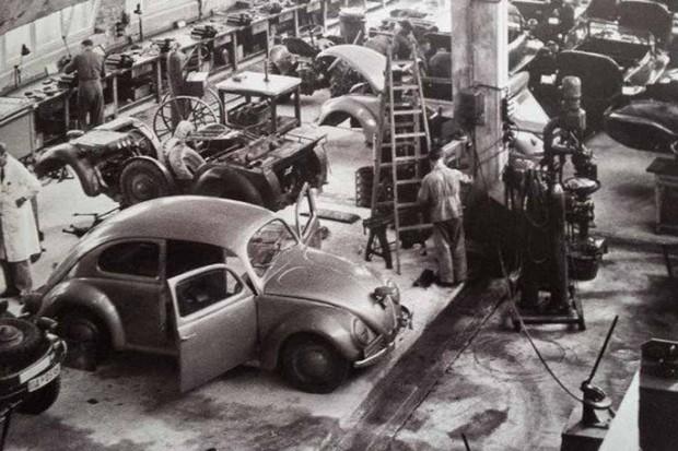 Fábrica de Fusca, na Alemanha (Foto: Reprodução)