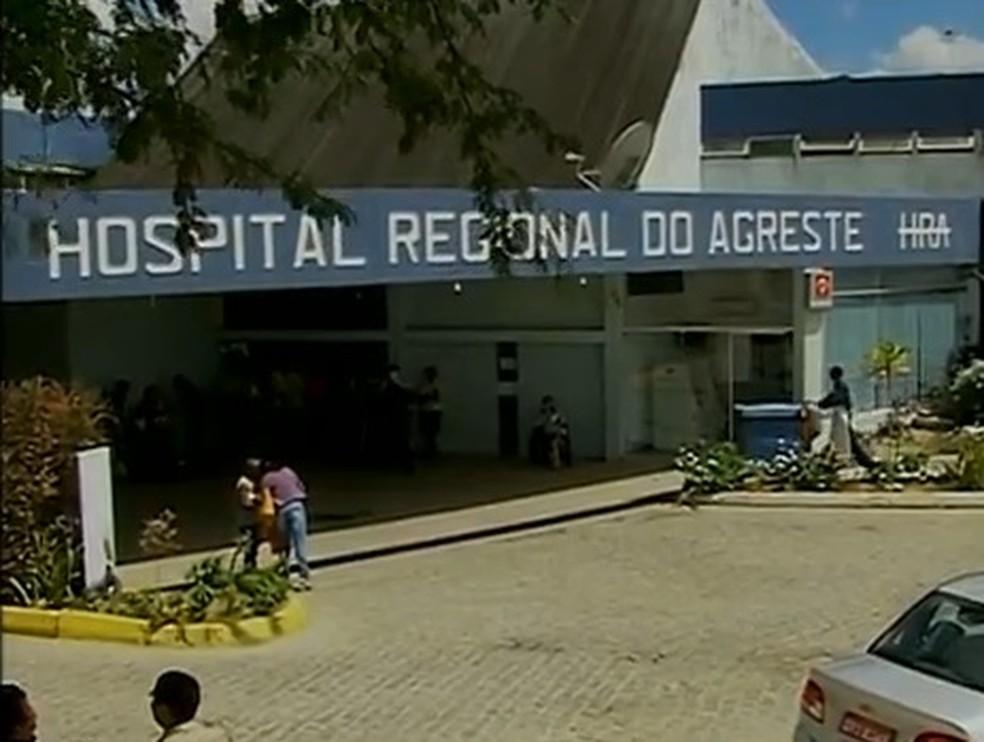 Hospital Regional do Agreste — Foto: Reprodução/ TV Asa Branca