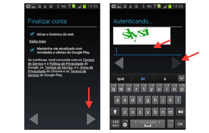 Finalizando a criação de uma conta do YouTube através de um dispositivo Android (Foto: Reprodução/Marvin Costa)