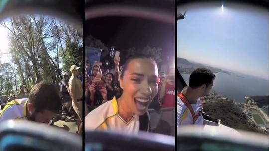 Rio 2016: tocha olímpica estreia câmera e vídeo ao vivo na Olimpíada