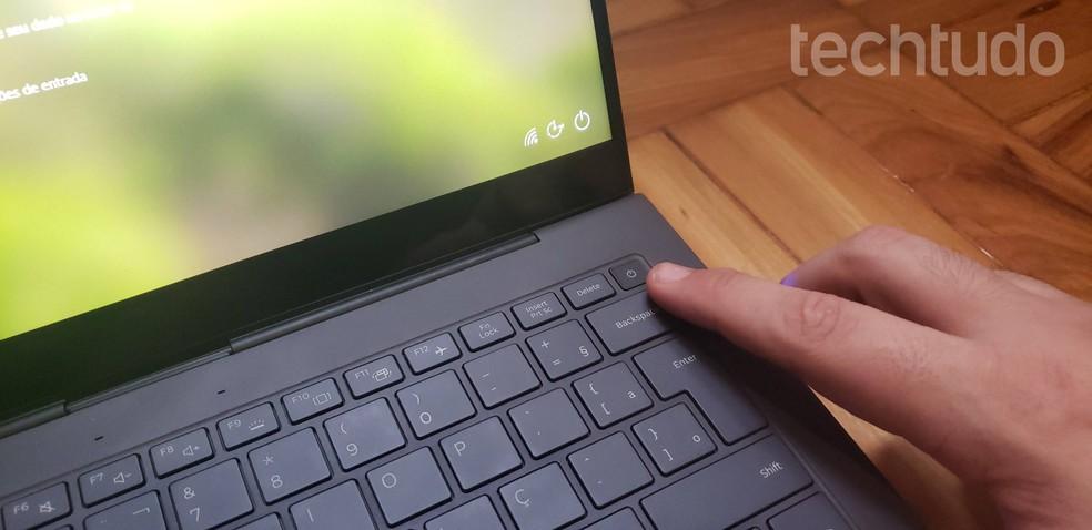 Leitor de digitais dá mais segurança no uso do computador — Foto: Yuri Hildebrand/TechTudo