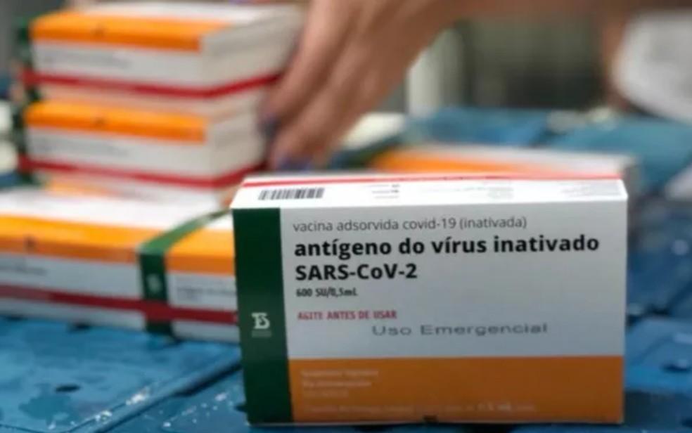 Doses da CoronaVac  — Foto: Divulgação/Claudivino Antunes - prefeitura de Aparecida de Goiânia