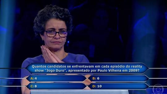 'Quem Quer Ser um Milionário': aposentada desiste na pergunta de R$ 500 mil
