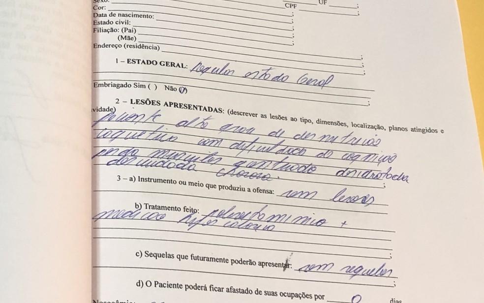 Laudo médico aponta alto grau de desnutrição de idosa em Palmeiras de Goiás — Foto: Paula Resende/G1