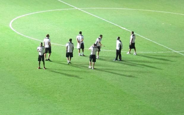 Jogadores Botafogo Mineirão (Foto: Thales soares)