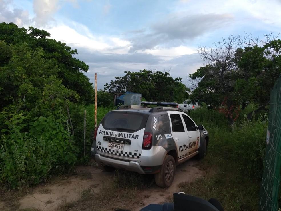 Operário e assaltante morreram após serem baleados em assalto na zona rural de Mossoró — Foto: Amanda Melo/Inter TV Costa Branca