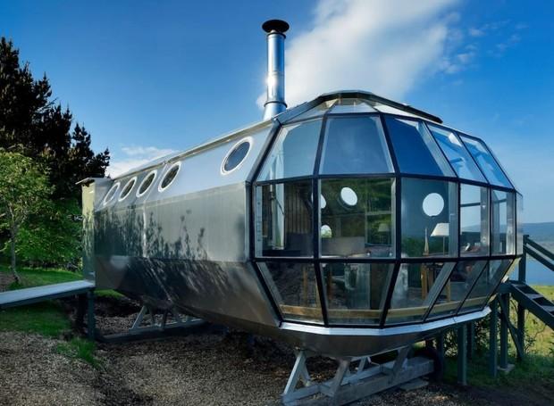 Casa em formato de espaçonave, Terras Altas da Escócia, Reino Unido (Foto: Airbnb/Reprodução)