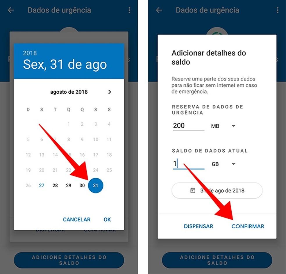 Defina um prazo para usar a reserva de dados do Datally (Foto: Reprodução/Paulo Alves)