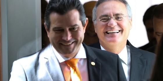 Mauricio Quintella e Renan Calheiros (Foto: Marcelo Camargo/Agência Brasil)