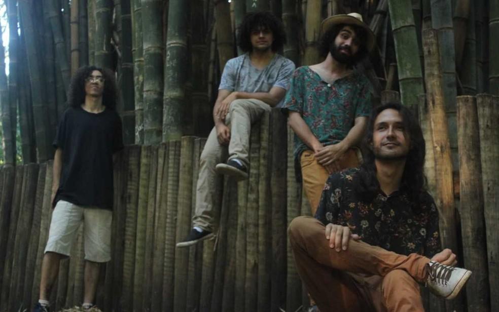 Banda Chá de Gim se apresenta em Goiânia — Foto: Teatro Sesc Centro/Divulgação