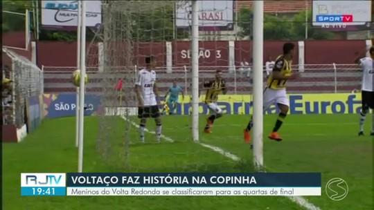 Volta Redonda vence o Atlético Mineiro e avança para as quartas de final da Copinha