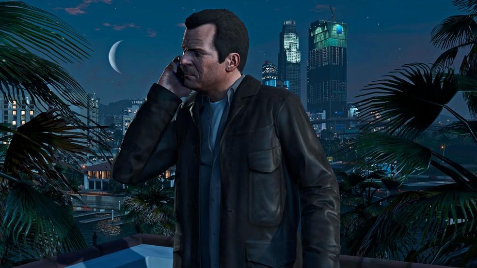 Se convertido em filme, GTA 5 teria 58 horas de duração para representar todo o script na telona — Foto: Divulgação/Rockstar Games