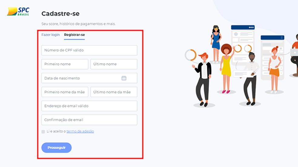 Preencha o formulário com seus dados pessoais — Foto: Reprodução/Paulo Alves