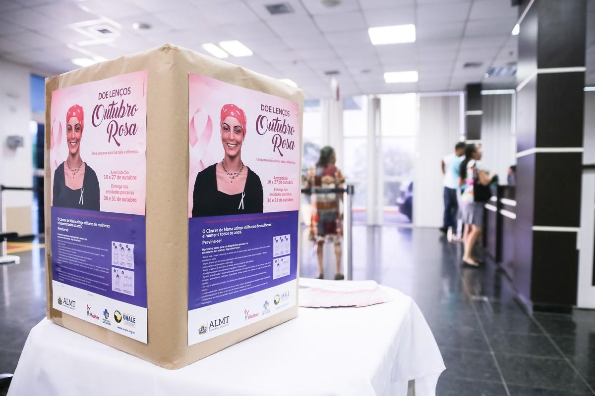 ALMT arrecada lenços para mulheres em tratamento contra câncer de mama
