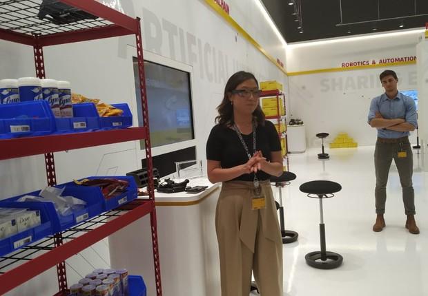 Centro de inovação da DHL em Chicago (Foto: Ana Laura Stachewski)