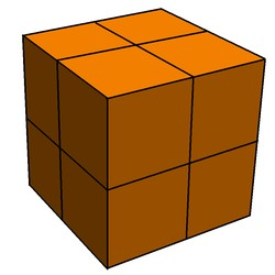 Figura 3: O cubo C dividido em oito partes. Fonte: Wikipedia em inglês.