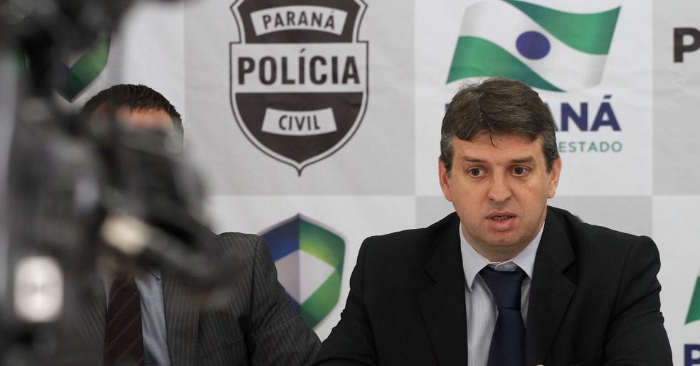 Júlio Reis, que ocupava o cargo de delegado-geral da Polícia Civil, assumiu a Secretaria de Segurança Pública e Administração Penitenciária do Paraná. (Foto: Agência Estadual de Notícias/Reprodução)
