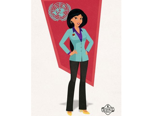 Jasmine, de Alladin, é embaixadora das Nações Unidas e uma das suas iniciativas mais importantes é garantir os direitos das mulheres. (Foto: Reprodução / Matt Burt)