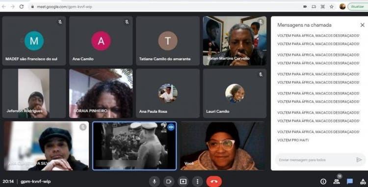 Polícia investiga ataques racistas e imagens nazistas exibidas durante reunião virtual em SC