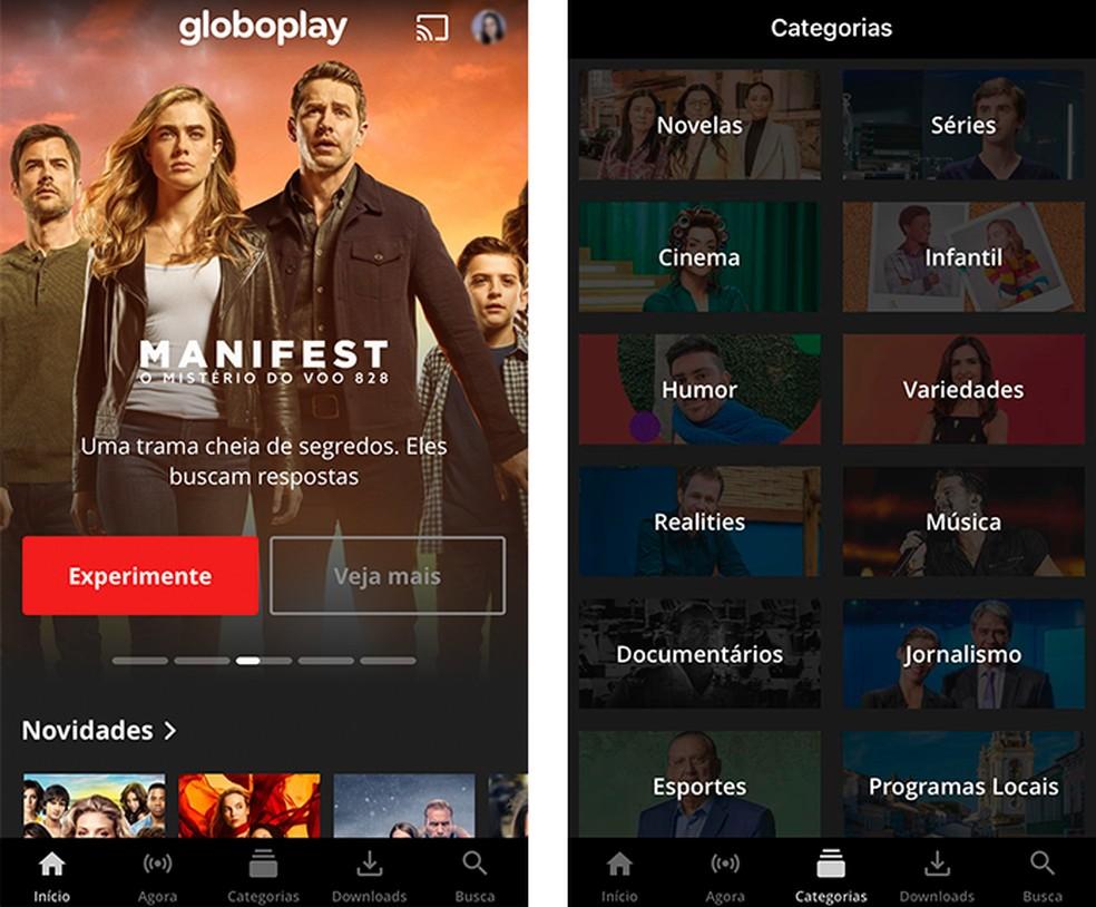 O serviço de streaming da Globo disponibiliza conteúdos gratuitos — Foto: Reprodução/Luana Antunes