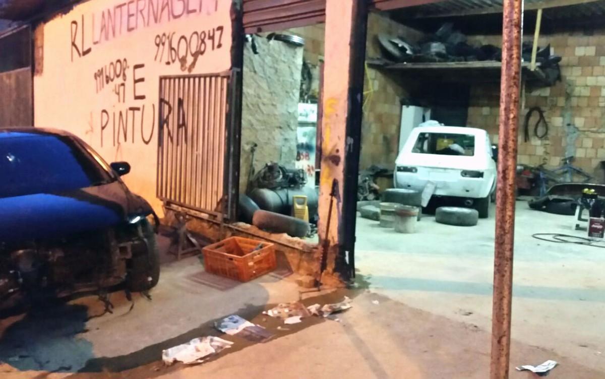Oficina do DF usava peças de carro roubado para conserto, diz Polícia Militar