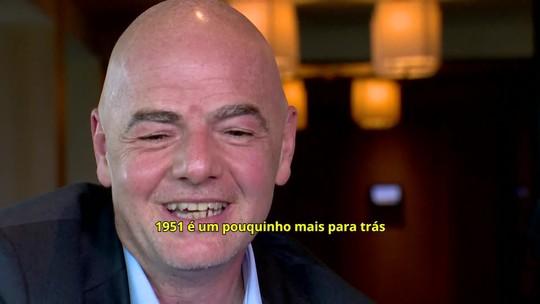 """Infantino brinca e diz que vai conversar com Bolsonaro sobre Mundial do Palmeiras: """"Vamos ver solução"""""""