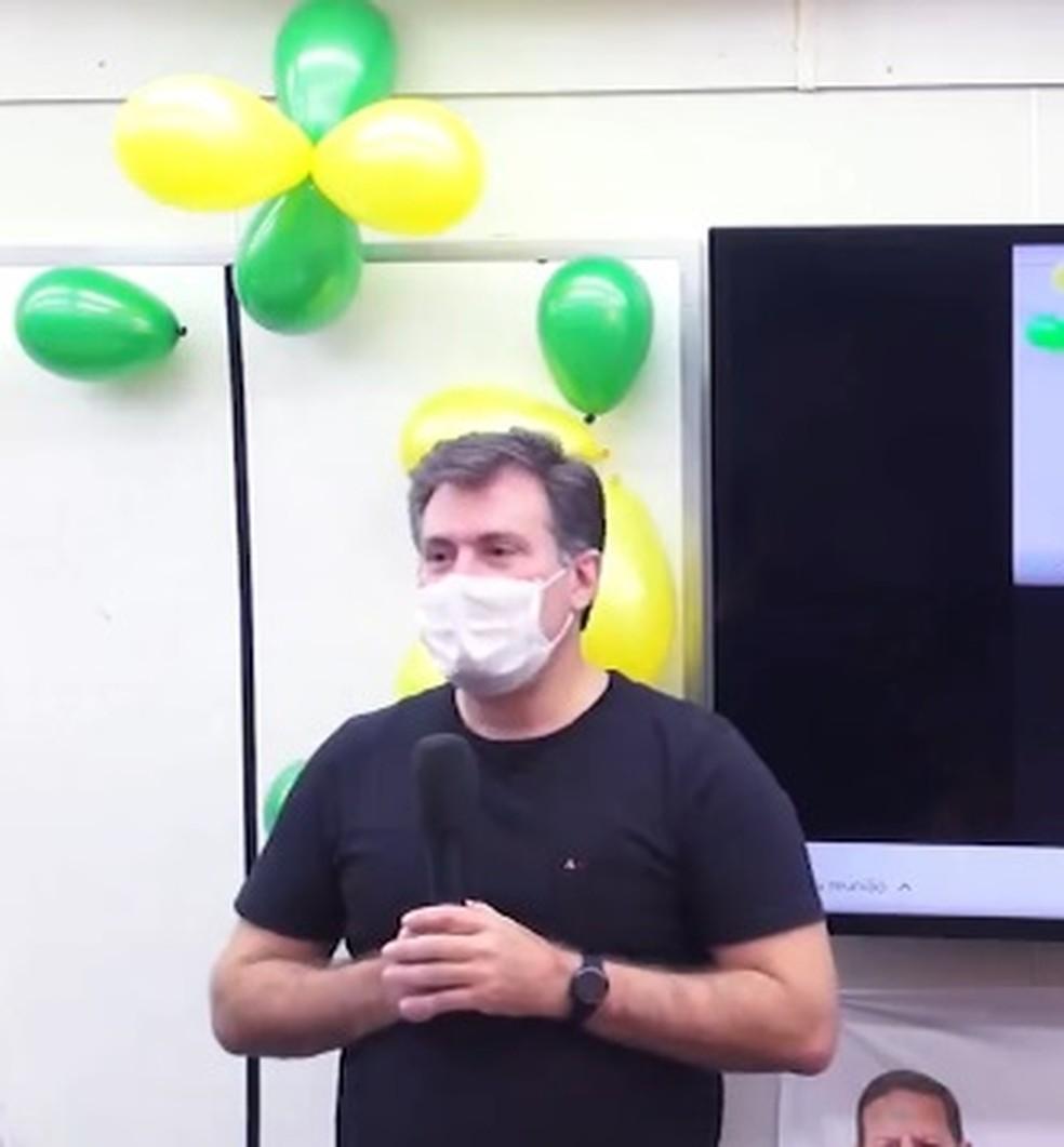Luiz Antônio de Carvalho é candidato a prefeito de Cuiabá pelo PRTB — Foto: Reprodução
