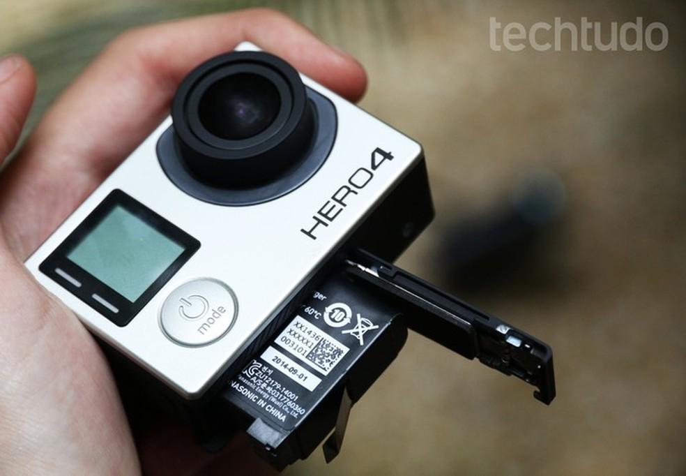 Hero4 Black tem pouca autonomia, assim como a Hero5 Black (Foto: Luciana Maline/TechTudo)