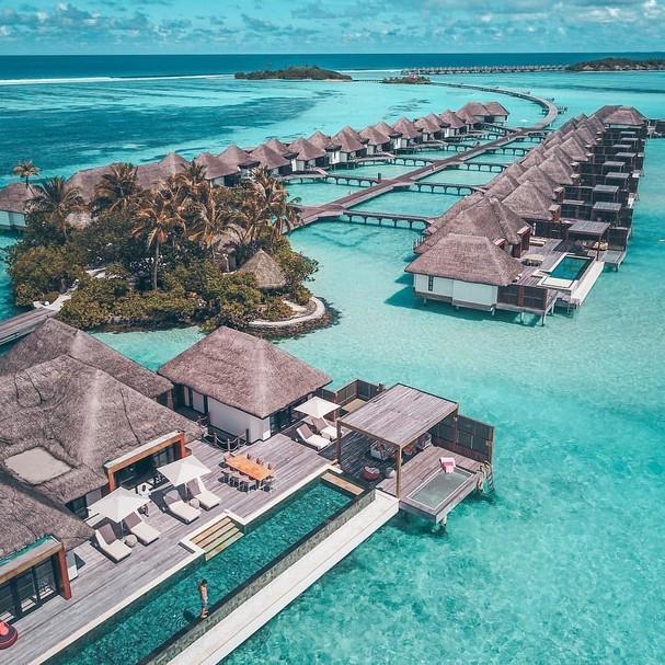 Vista do hotel cinco estrelas onde Simaria esta hospedada (Foto: Reprodução)