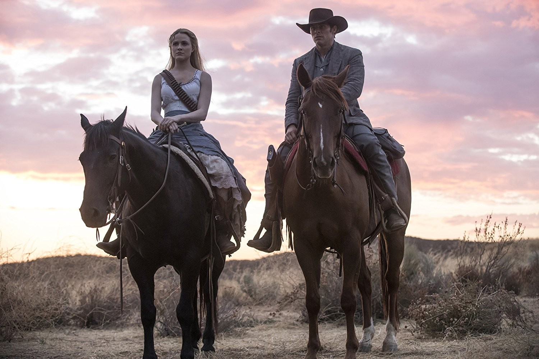 Evan Rachel Wood e James Marsden em Westworld (Foto: Divulgação)