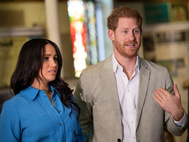 Meghan e Harry em visita à África do Sul (Foto: Getty Images)