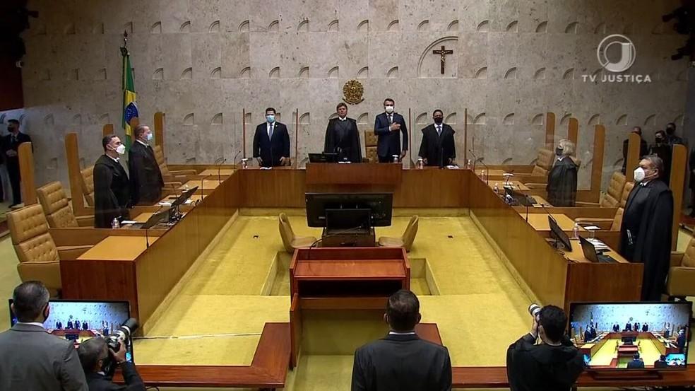 Plenário do Supremo Tribunal Federal (STF) no dia 01 de fevereiro de 2021. — Foto: Reprodução