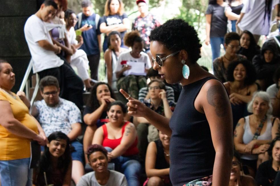 Slam das Minas tem palestras, oficinas, rodas de conversa e pocketpoesia — Foto: Olho Mágico - projeto fotográfico/divulgação