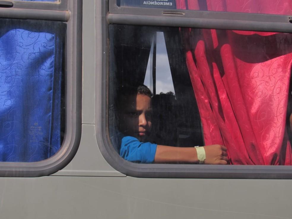 Grupo de venezuelanos que chegou a Porto Velho também é formado por crianças que tiveram que deixar o país vizinho.  — Foto: Patrícia Grenhas/Cáritas Brasileira Articulação Noroeste