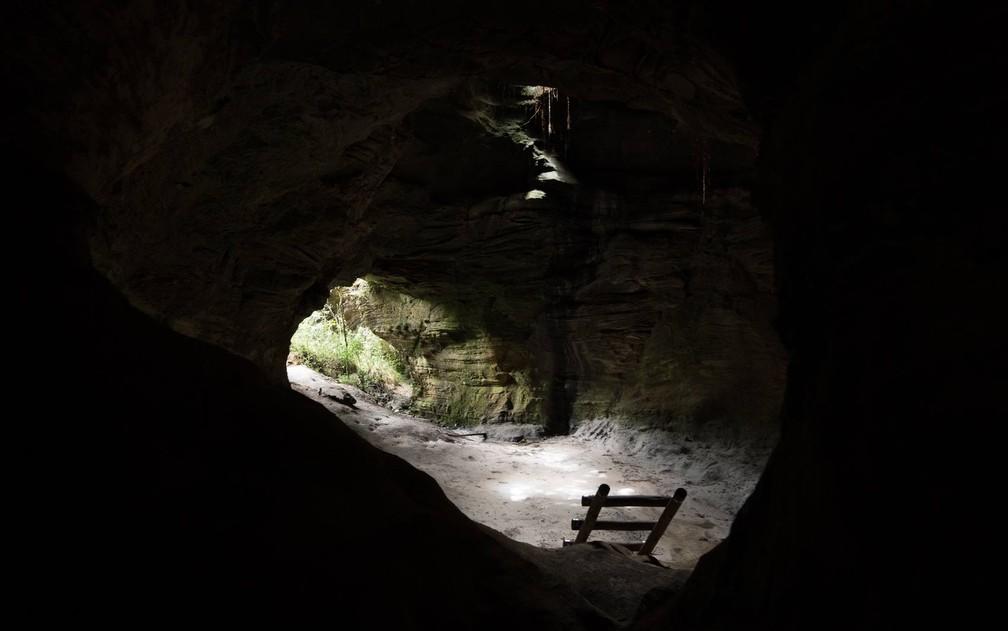 Parque Estadual do Ibitipoca - uma das grutas espalhadas pela área do parque — Foto: Dimas Stephan/G1