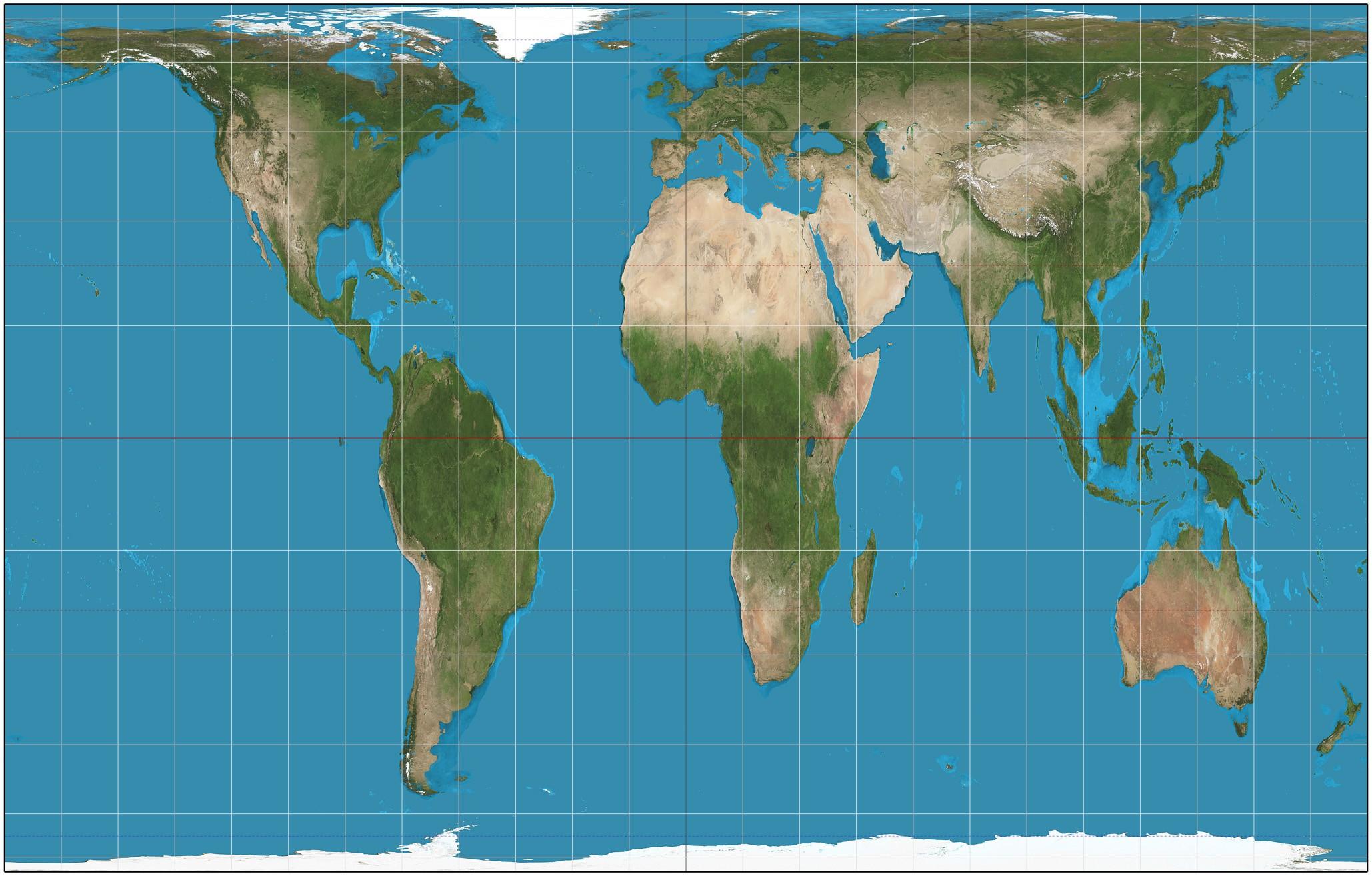 Mapa de Gall-Peters também possui defeitos (Foto: Wikipedia  / Strebe)