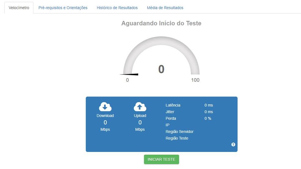 Acesse o site da Brasil Banda Larga para verificar a qualidade da sua conexão — Foto: Reprodução/Brasil Banda Larga