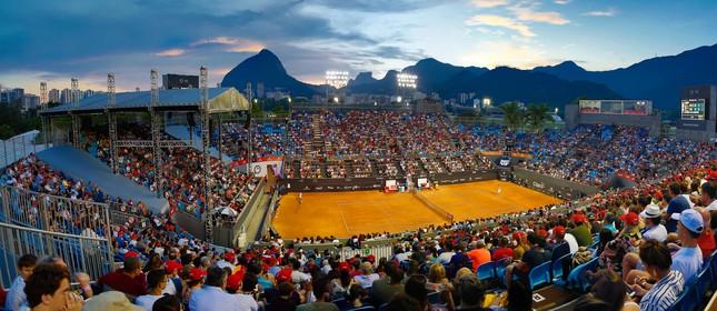 Quadra central do Rio Open