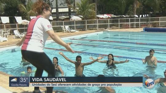Unidades do Sesi da região têm atividades físicas gratuitas neste fim de semana; veja programação