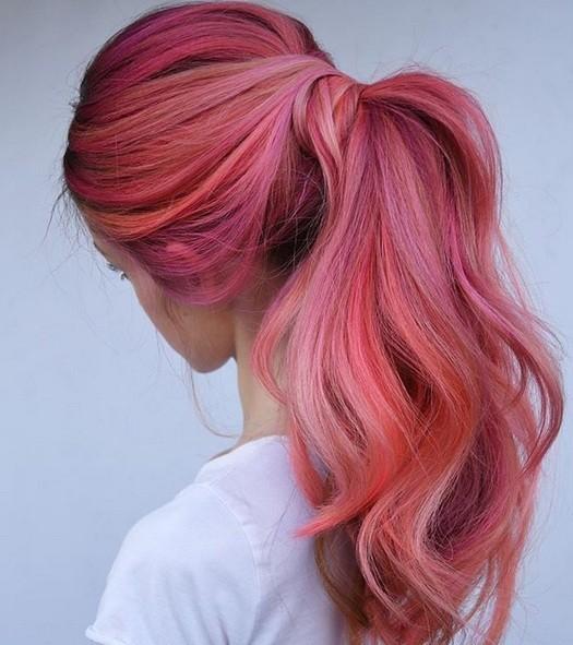 Coloração flamingo criada por Meg Schipani (Foto: Reprodução / Instagram)