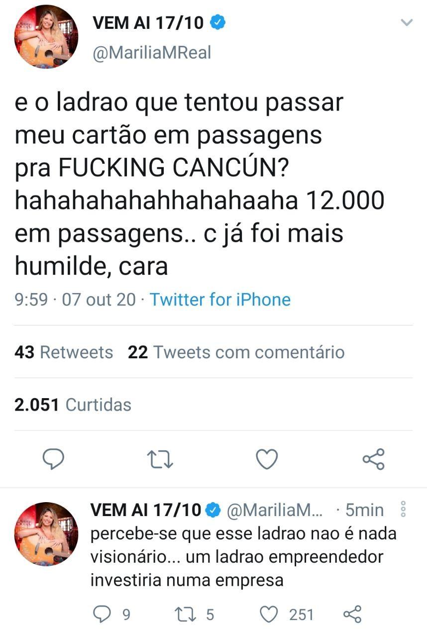 Marília Mendonça conta sobre tentativa de roubo (Foto: Reprodução/Instagram)