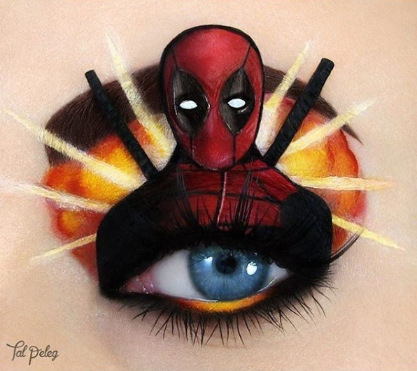 Maquiagem de Deadpool feita por Tal Peleg (Foto: @tal_peleg/Instagram)