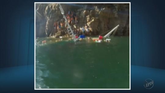 Escuna com 15 passageiros afunda no Lago de Furnas durante o feriado
