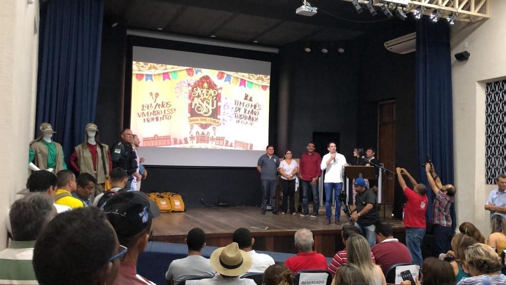 Programação do São João de Assu, no RN, foi divulgada nesta terça-feira (7) — Foto: Bruno Andrade