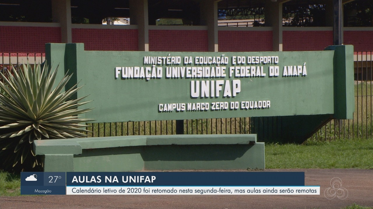 Calendário letivo de 2020 é retomado em universidade do Amapá; aulas são remotas
