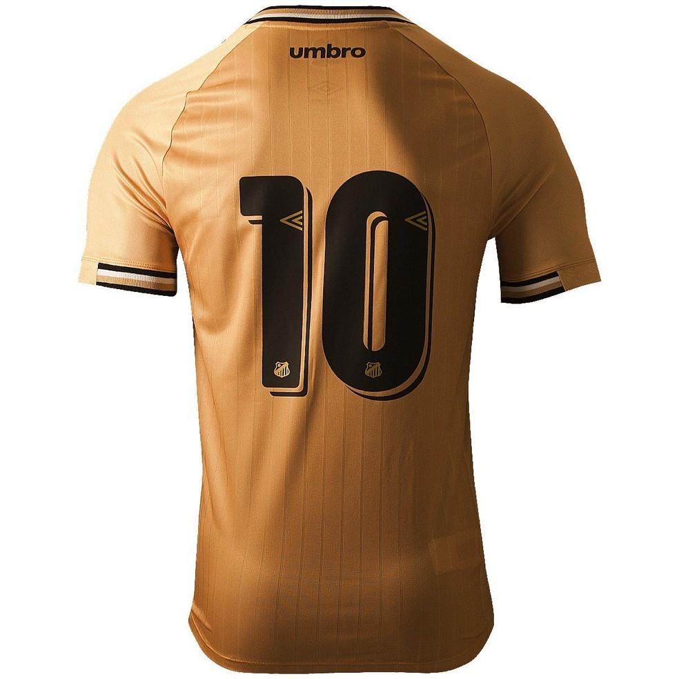 Costas do novo uniforme do Santos — Foto: Reprodução