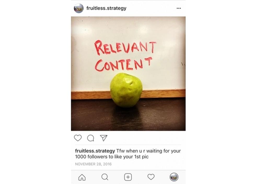 Conta com seguidores comprados não gera engajamento em posts (Foto: Reprodução/Hootsuite)