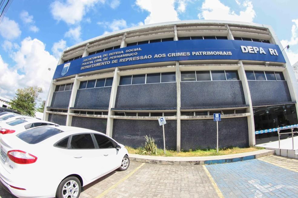 Sede do Depatri - Departamento de Repressão aos Crimes Patrimoniais, no bairro de Afogados, no Recife (Foto: Marlon Costa/Pernambuco Press)